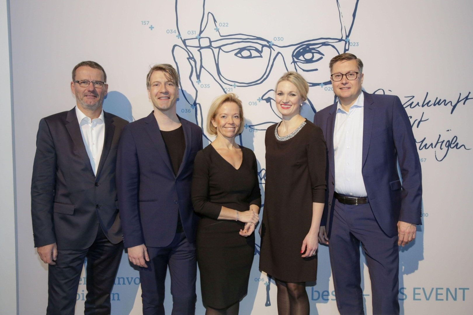 GIK-Geschäftsführer Fred Hogrefe (FUNKE MEDIENGRUPPE), Frank Vogel (Gruner + Jahr), Julia Scheel (Hubert Burda Media), Catherin Anne Hiller (Bauer Media Group) und Carsten Dorn (Axel Springer / Media Impact)